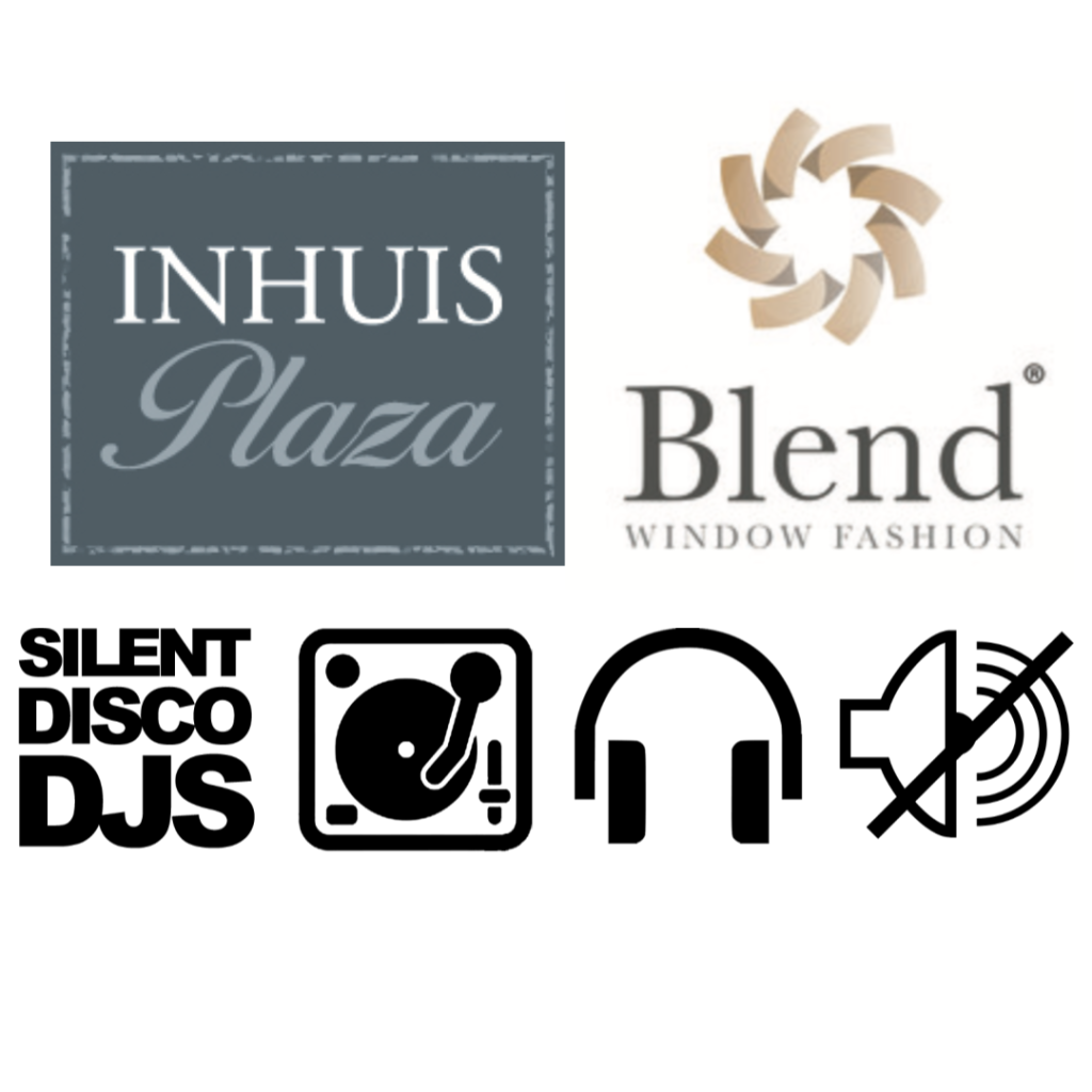 Sponsoren 2020: InHuis Plaza, Blend Window Fashion en Silent Disco DJs